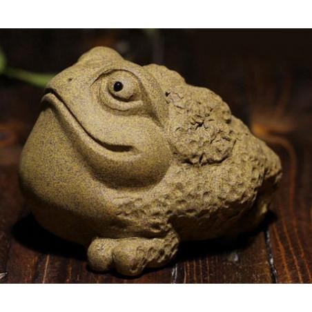 """Чайная игрушка из исинской глины """"Каменная жаба"""""""