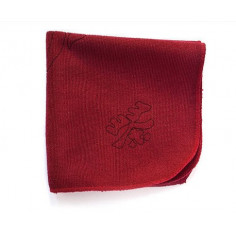 Бордовое чайное полотенце, гладкое