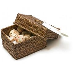 Набор порционного пуэра в плетенной коробке