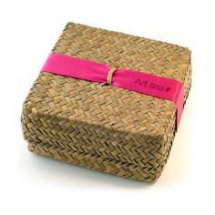 Конфетки art tea в плетеной коробке