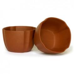 Чаша с усеченными углами из исинской глины (бордовая)