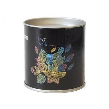 Черная картонная банка для хранения чая