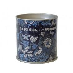 Синяя картонная банка для хранения чая