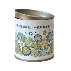 Белая картонная банка для хранения чая