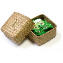 Светлая плетеная коробка_2337