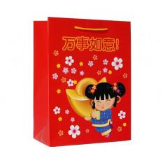 Подарочный пакет в китайском стиле
