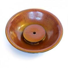 Красная керамическая чабань-тарелка фабрики Сян Тао