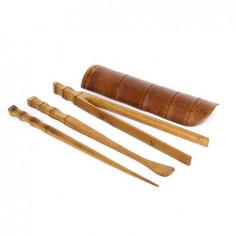 Набор чайных инструментов из светлого бамбука