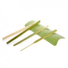 Набор чайных инструментов из зеленого бамбука