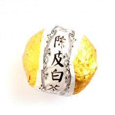 Белый чай в мандарине