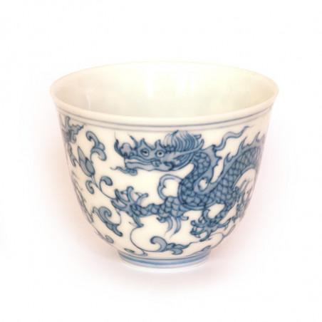 Антикварная чаша из цзиндэчженьского фарфора «Дракон»