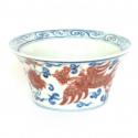 Антикварная чаша из цзиндэчженьского фарфора «Феникс»_3477
