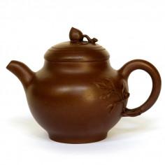 """Чайник из исинской глины """"Ветка персикового дерева"""""""