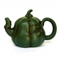 Чайник из исинской глиный в форме тыквы