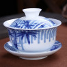 Бело-синяя гайвань с бамбуком (3,8 цуня)