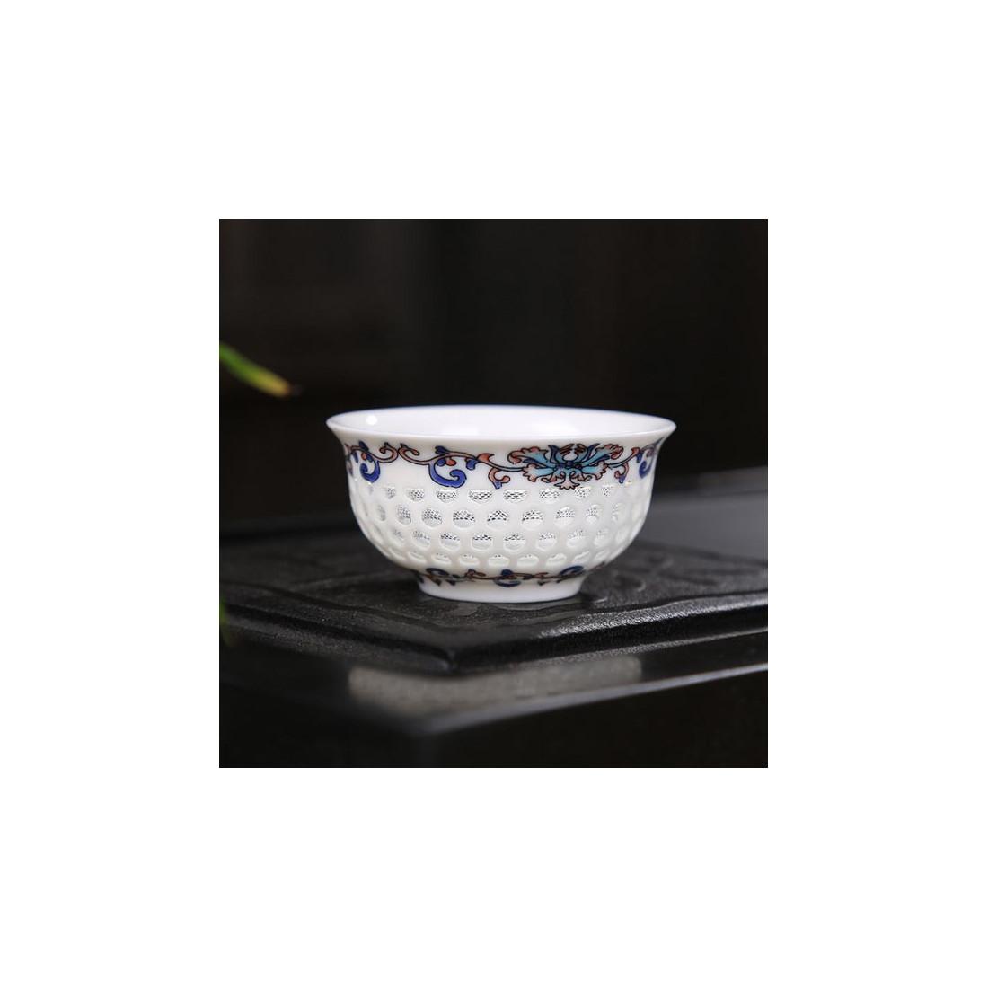 Пятицветная чаша из рисового фарфора