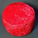 Красная подушка из тонкого велюра_4105