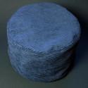 Синяя подушка из вельвета_4107