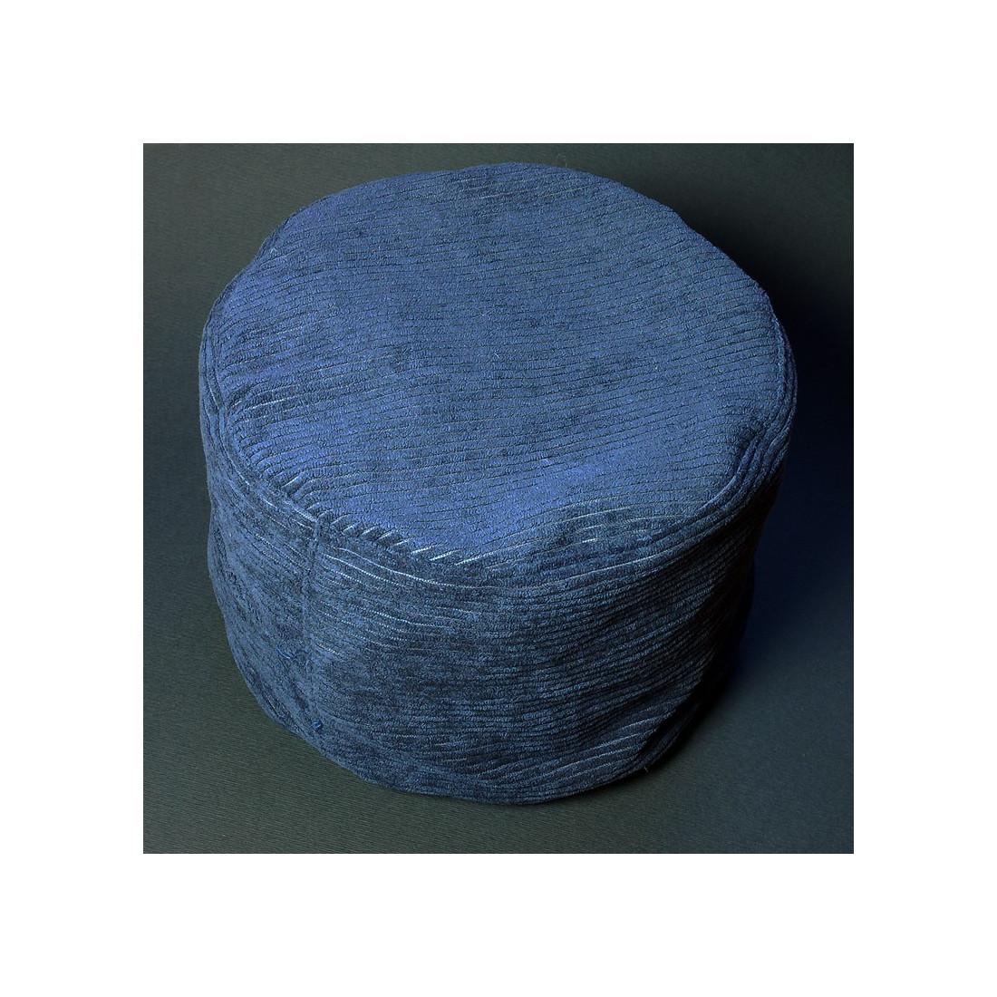 Синяя подушка из вельвета