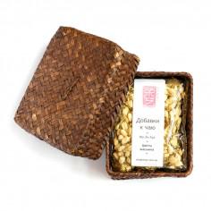 Порционный белый чай с жасмином в плетеной корзинке