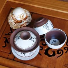 Глиняный чайный набор «Будда» в подарочной коробке