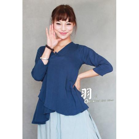 Насыщенно-синяя рубашка (М101 Сиху Лунцзин)