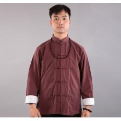 Коричнево-красная рубашка (М102 Тулинь)