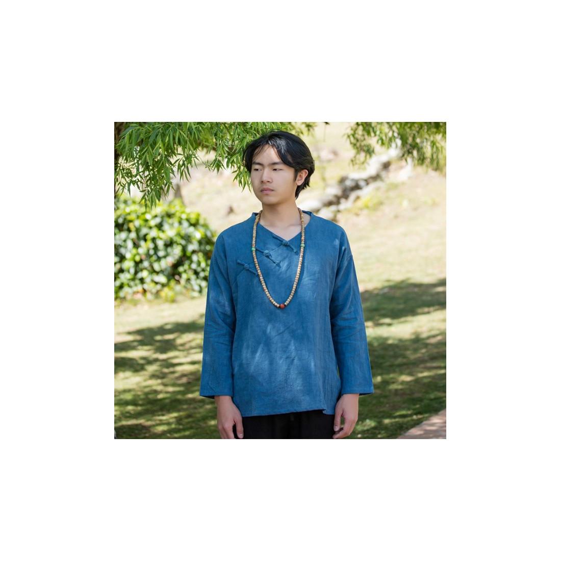 Туманно-синяя рубашка (М104 Мао Фэн)