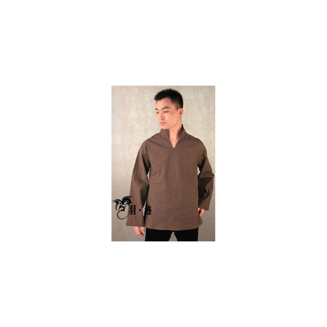 Серо-коричневая рубашка (М106 Билочунь)