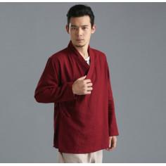 Бордовая рубашка (М112 Бин Дао)