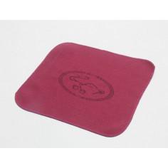 Чайное полотенце с изображением чайника, бордовое