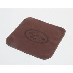 Чайное полотенце с изображением чайника, коричневое