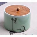 Просветление, селадоновая чайница с бамбуковой крышкой_4792