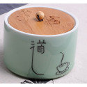 Путь, селадоновая чайница с бамбуковой крышкой_4793