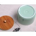 Селадоновая чайница с бамбуковой крышкой_4799