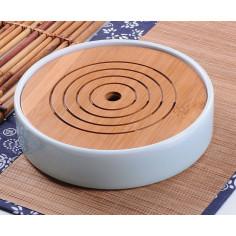 Круглая чабань с селадоновой керамической основой
