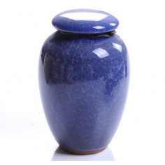 Синяя чайница «колотый лед»