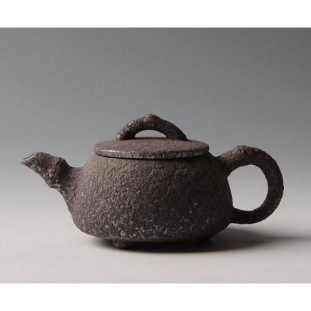 """Чайник бамбуковый, """"ржавая"""" керамика"""