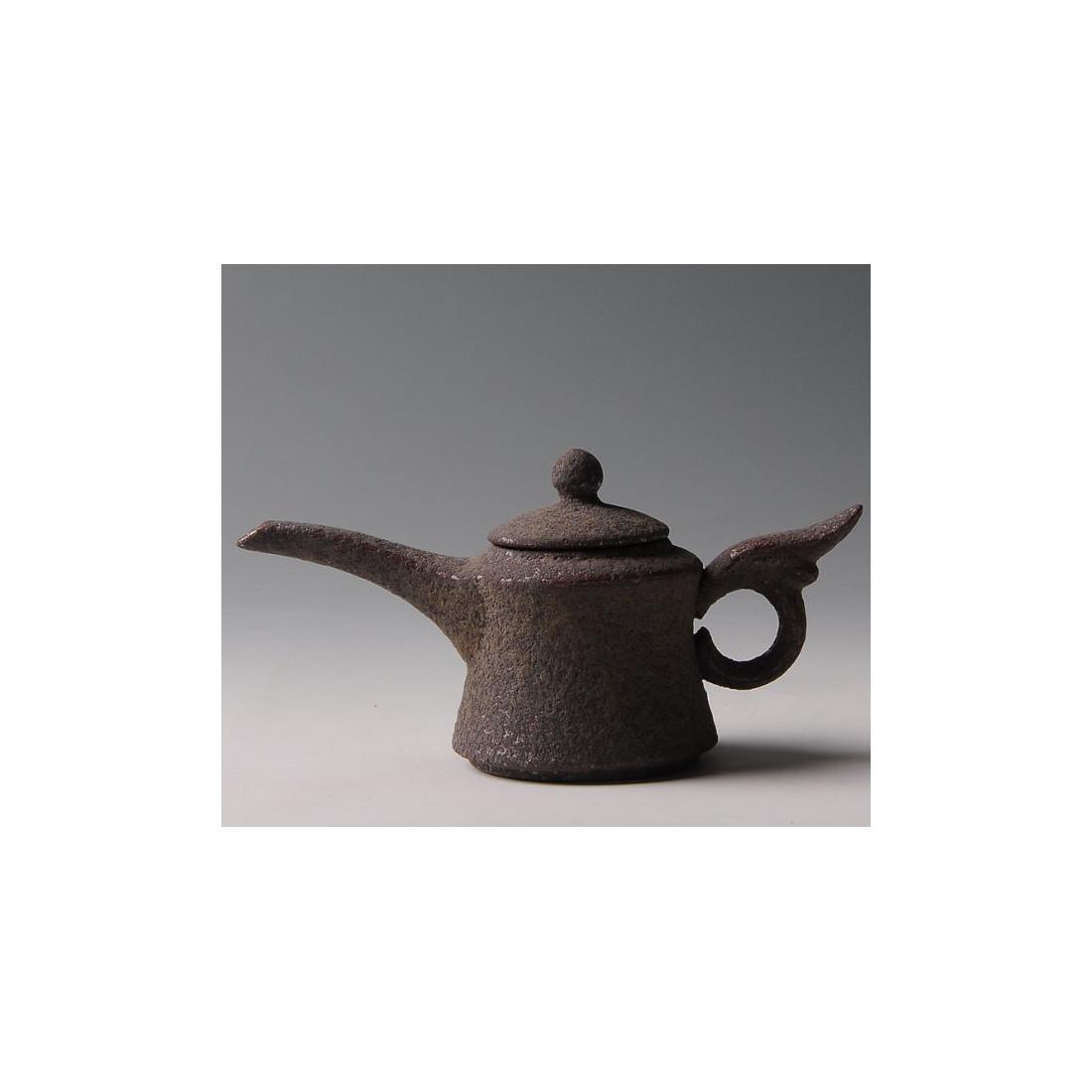 """Чайник с длинным носиком, """"ржавая"""" керамика"""