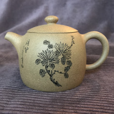 Чайник «Ограда колодца» (хризантема) из исинской глины