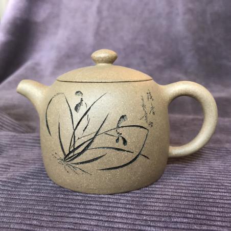 Чайник «Ограда колодца» (орхидея) из исинской глины