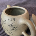 Чайник из исинской глины «Ограда колодца» (бамбук), 180 мл_5129