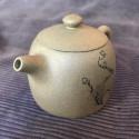 Чайник «Ограда колодца» (снежная слива) из исинской глины_5134