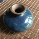 Маленькая вазочка с синей глазурью_5152