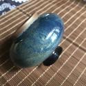 Маленькая вазочка с синей глазурью_5153