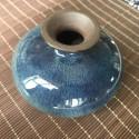 Маленькая вазочка с синей глазурью_5154