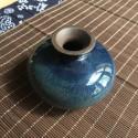 Маленькая вазочка с синей глазурью_5155