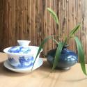 Маленькая вазочка с синей глазурью_5156