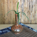 Высокая маленькая вазочка с красной глазурью_5163