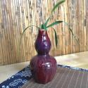Высокая маленькая вазочка с малиновой глазурью (1)_5169